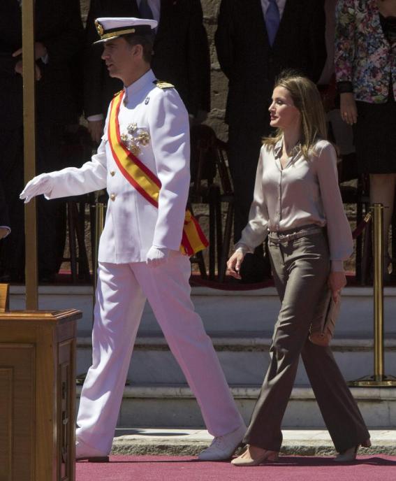 Letizia et Felipe à San Fernando