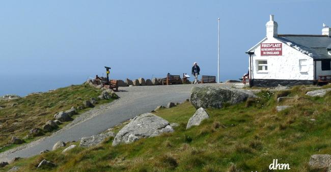 La dernière maison du bout de la terre en Cornwall ( Angleterre).