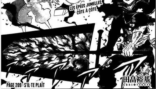 Black Clover Scan chapitre 209 en VF Version Française