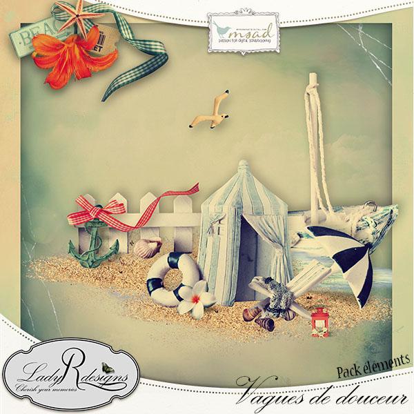"""""""Vagues de douceur"""" de LadyRdesigns"""