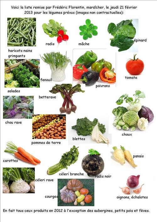 légumes pour la saison!