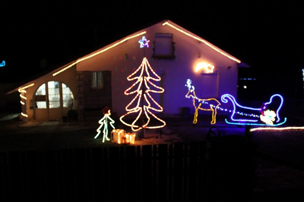 Maison illuminée