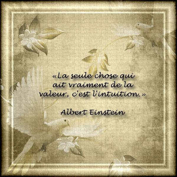 Citations et Proverbes 2:  Citation d'Albert Einstein - Une petite voix