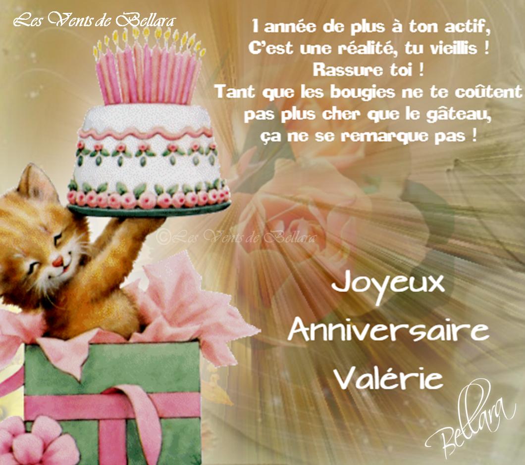 """Résultat de recherche d'images pour """"Bon anniversaire Valérie"""""""