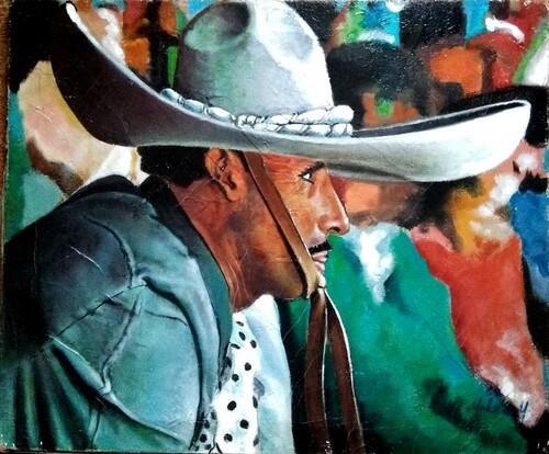 mexicain huile sur toile 50x40