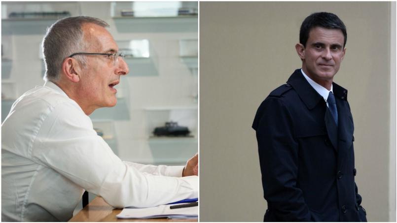 Guillaume Pepy et Manuel Valls.