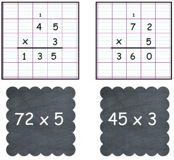 Atelier calcul: la multiplication à 1 ou 2 chiffres