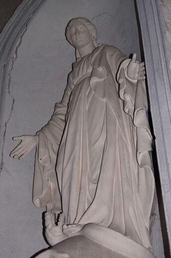 Statue de Saint-Germain-le-Scot Eglise Saint-Germain de Saint-Germain-sur-Ay ERNOUF Guillaume (2).JPG