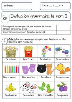 EVALUATION SUR LE NOM