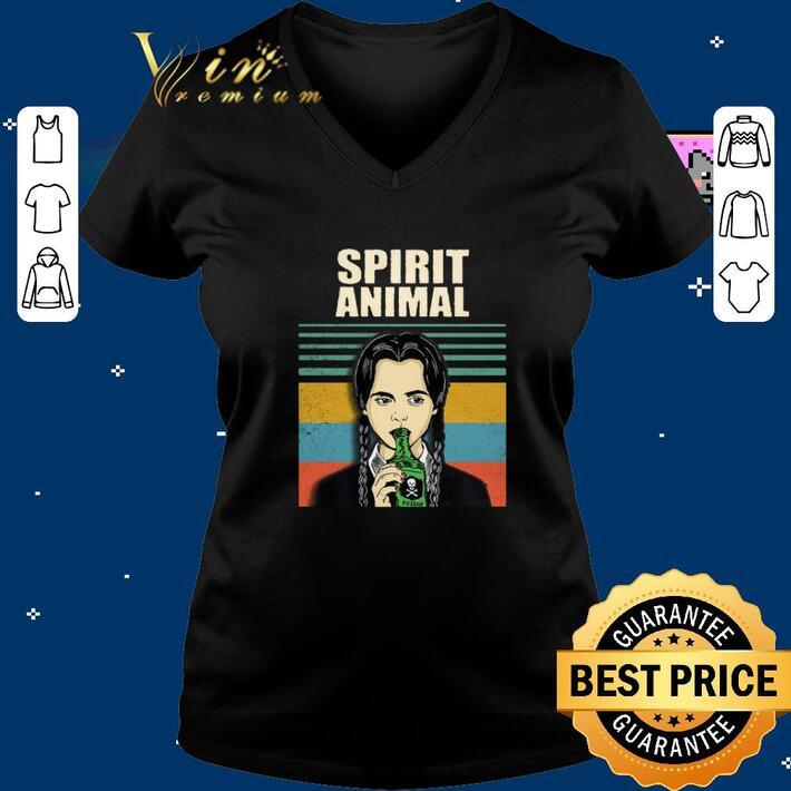 Funny Wednesday Addams spirit animal vintage shirt