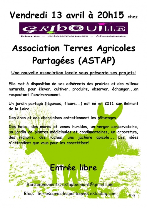 CONFERENCE: L'ASTAP se présente chez Gribouille