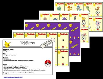 Jeu sur les tables de mutliplication: Pokémon