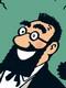 professeur bergamotte Aventures de Tintin serie