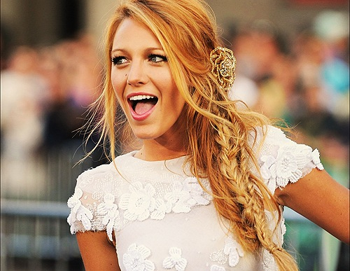 blake, blonde, orange, girl, fashion, love, lively, love you, gossip, blake lively, white, happy, beauty, xoxo, dress, smile, gossip girl