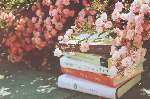 beautiful, books, cute, flower, nature, pink, roses