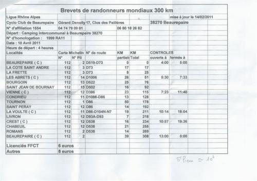 Fichier adhérents 2011.