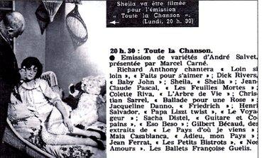 03 décembre 1962 / Toute la Chanson