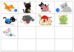 Des chats et des pelotes
