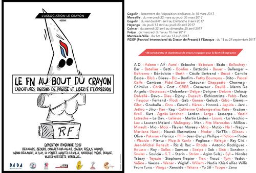 L'exposition « Le Fn Au Bout Du Crayon » accueille les dessins de 158 caricaturistes et dessinateurs de presse. Tous ont répondu à notre appel pour la liberté d'expression !
