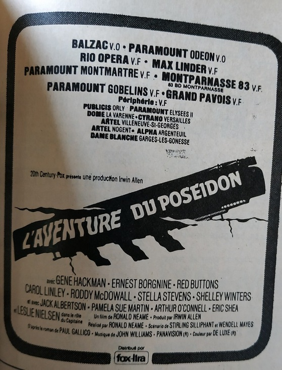L'AVENTURE DU POSEIDON - GENE HACKMAN BOX OFFICE 1973