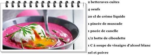 Soupe froide à l'œuf