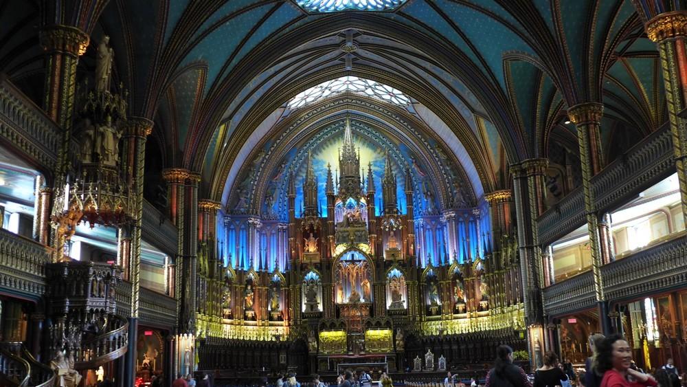 Montréal : la magnifique Basilique Notre-Dame...