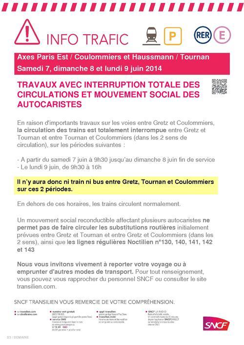 Grève SNCF pour le 7, 8 et 9 juin 2014