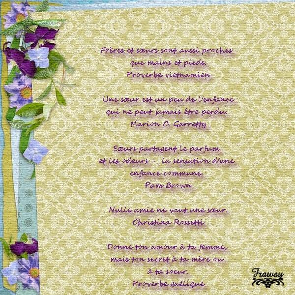 Quelques citations sur l'amour entre soeurs et frères