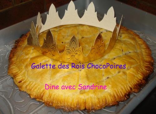 Une Galette des Rois Poire Chocolat