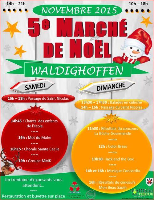 Marché de Noël de Waldighoffen 21 et 22 novembre 2015