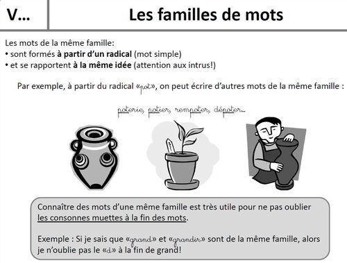 V5- Les familles de mots
