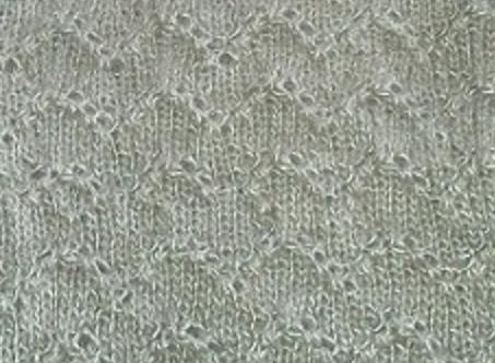 Echarpe l g re point ajour les tricots de julie - Point de tricot ajoure pour echarpe ...