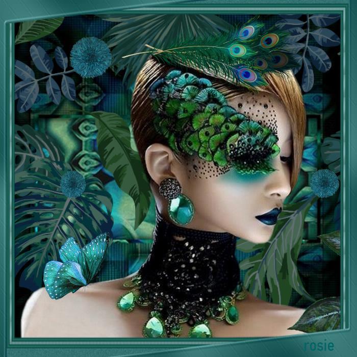 plumes et perles