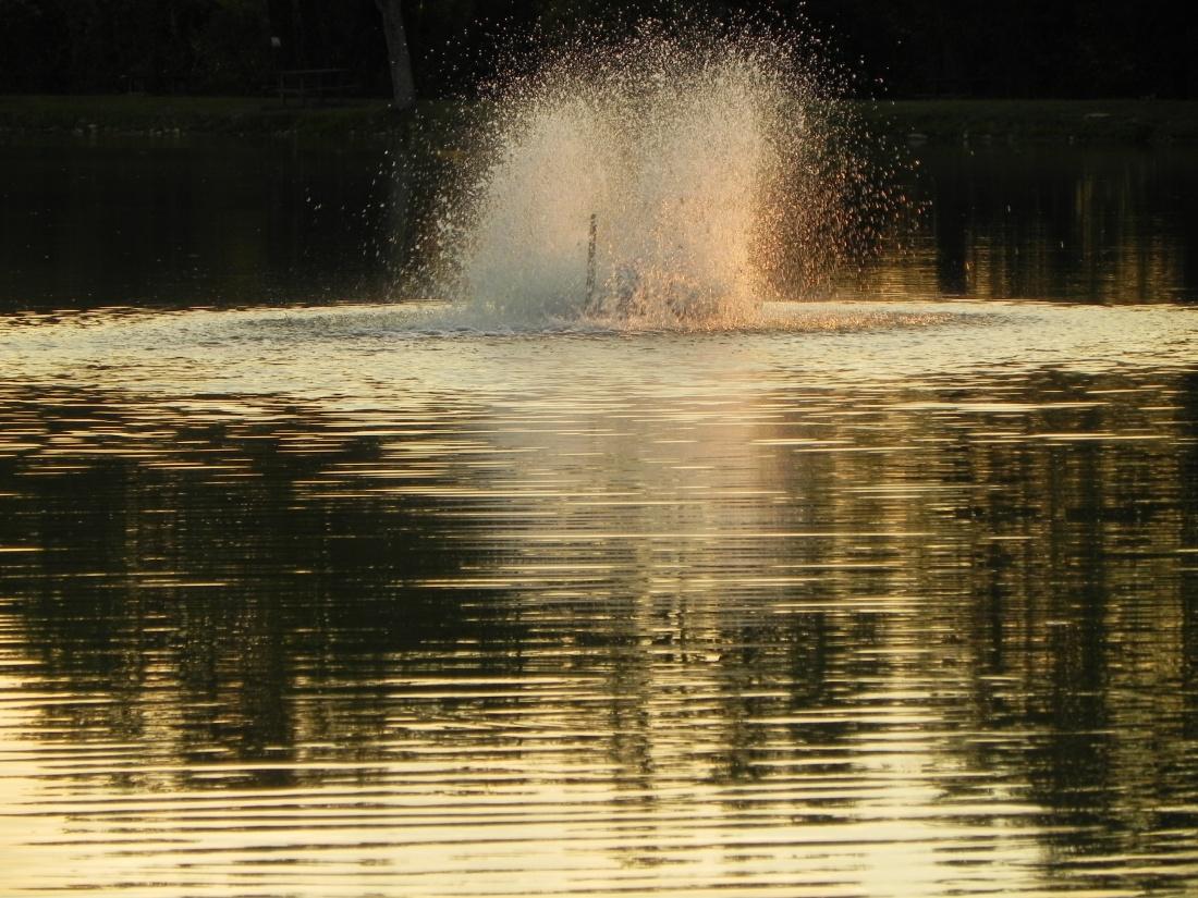 Coucher de soleil au lac de Sandrans