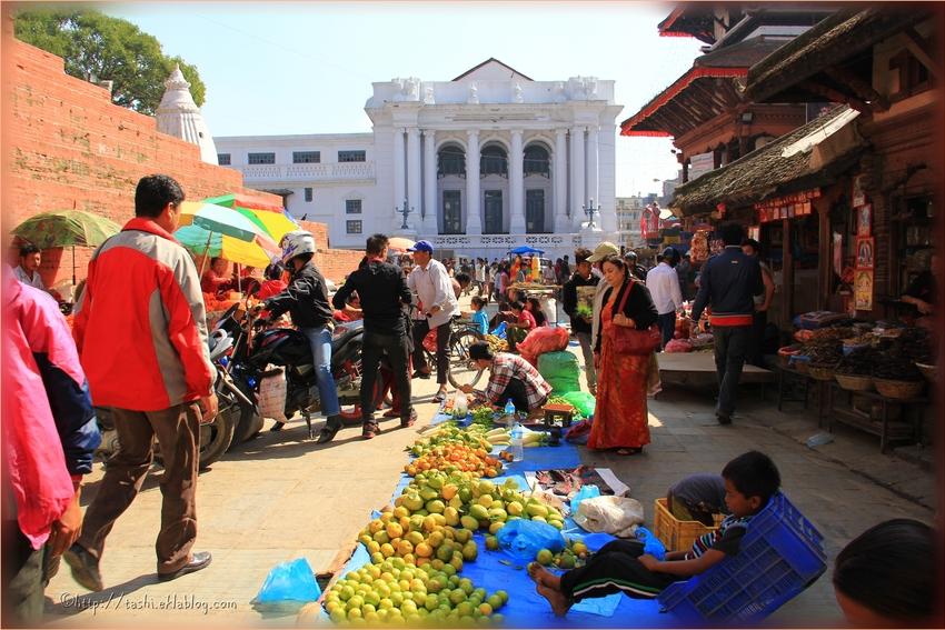ambiance de marché, Katmandou