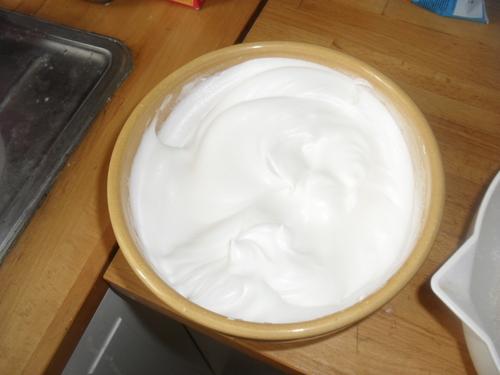 un gâteau au chocolat pour utiliser les blanc d'oeuf...merveilleux^^
