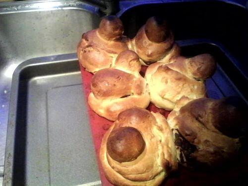 Briochette à la pâte à tartiner...pour le petit déjeuner