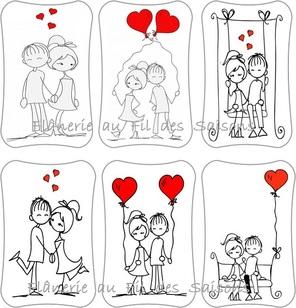 Cartonnettes St Valentin !