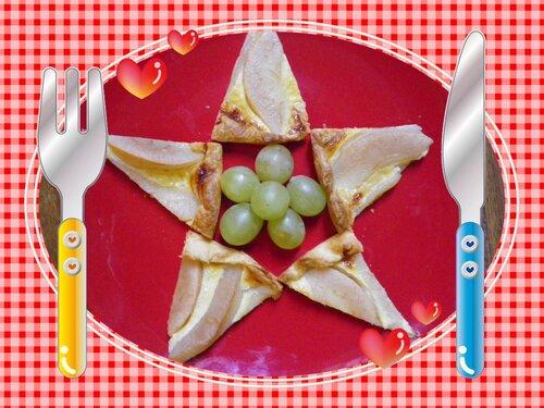 L'étoile filante (tarte aux pommes)