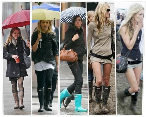 Pluie : chic et stylée même par mauvais temps !