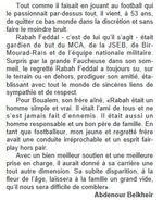 Fin Mars 2015 Décès de l'ancien Portier du Mouloudia Feddal Rabah