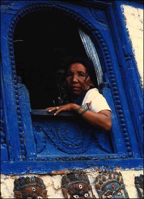 Fenêtre bleue ...