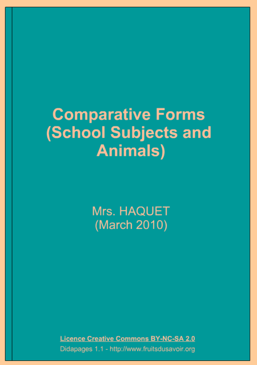Interactive book COMPARATIVES