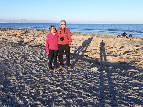 Sur la plage à Santa Pola