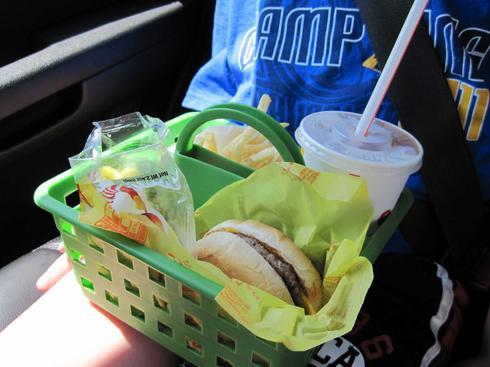 Panier pour nourriture dans la voiture