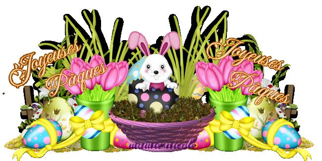 ♥♥ Je vous souhaite de très bonne fêtes de Pâques ♥♥