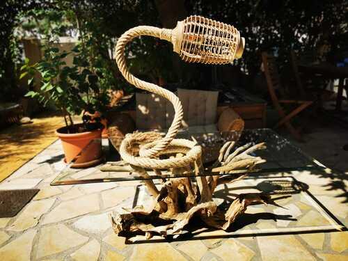 lampe corde très originale