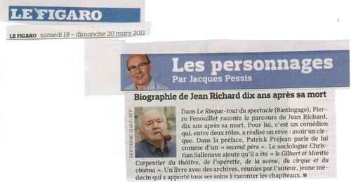 Jean Richard à l'honneur dans le Figaro