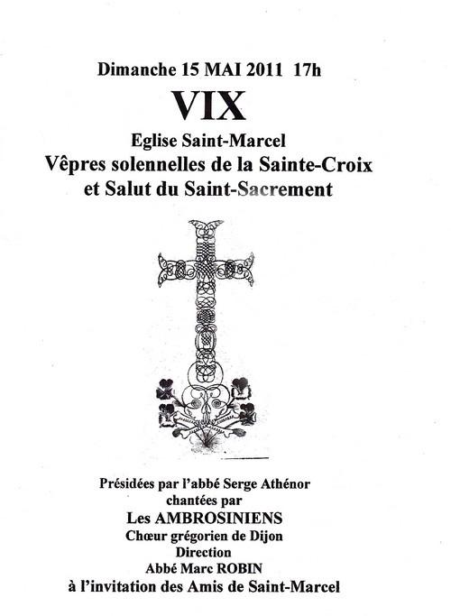 Vêpres à St Marcel de Vix