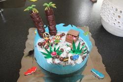 gâteau île pirate